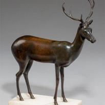 19th Century English bronze of a deer