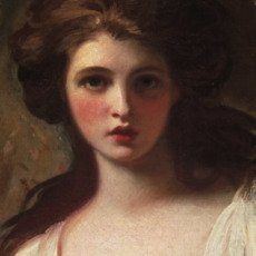 Detail 'Emma Hart as Circe' by George Romney ©Tate. Seduction and Celebrity, National Maritime Museum