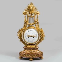 A superb Napoleon III Lyre clock. C1860