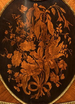A marquetry side cabinet by Cremer English, c1880 closeup details
