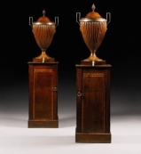 A fine pair of George lll mahogany wine cisterns attributed to Gillows. Circa 1800