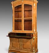Exhibition quality kingwood secretaire bookcase. Circa 1850
