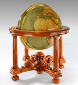 "30"" Philips library globe in a walnut stand. Circa 1928"