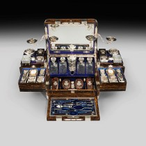 An extensive travelling case by Thornhill, 1881 -