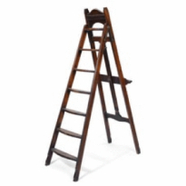 A late Victorian 'Hampton's Patent' artist's easel/library ladder, c1900