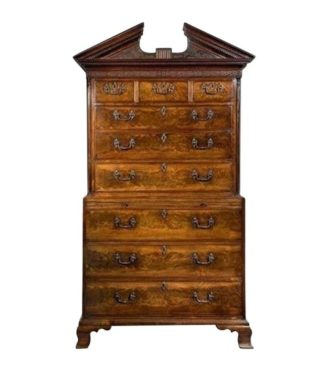 George III Mahogany Tallboy in the Manner of Robert Gillow