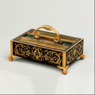 A Regency boulle work desk tray. c1820.