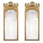 Pair of George I Style Victorian Giltwood Mirrors