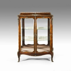 French kingwood display cabinet. C1880 -