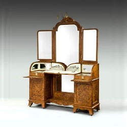 A silver fitted dressing table by George Betjemann. C1907