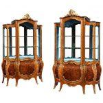 Exhibition quality Napoleon III kingwood vitrines
