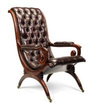 A William IV mahogany library armchair. c1830