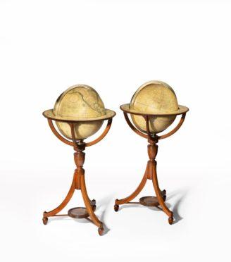 antique globe countries