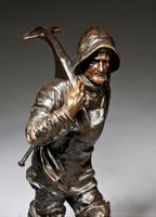 (Henryk) Kossowski Salon, Bronze boatman, Poland 1907