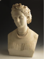 Marble bust of women