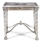 An Anglo-Indian Silver plated centre table 19th Century, 1870