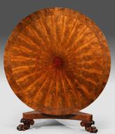 A radiating flame mahogany table c1825