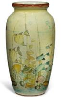 An unusual Villeroy Boch floor vase, c1950.