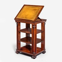 A late Regency open library bookcase. English, c 1830.