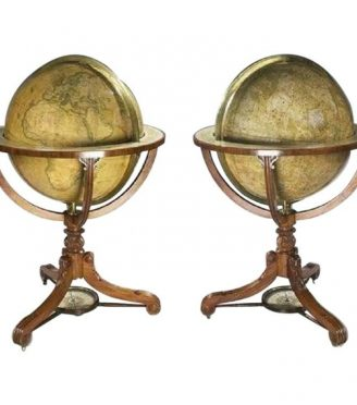 A rare pair of 24′ globes by Newton