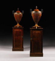 A pair of wine cisterns, c1800.