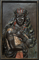 Portrait plaque of an Arab tribeswoman by Hottot