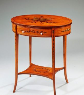 Brown Table Front Facing