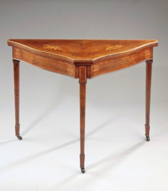Wooden Table Side Facing
