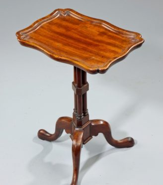 Wooden Table Top View