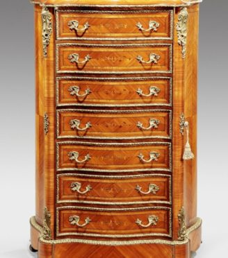 Wooden Chest with gold detail