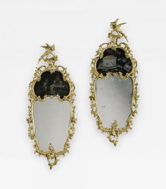 Victorian-giltwood-English-Chinese-Chippendale-style-period-mirrors-
