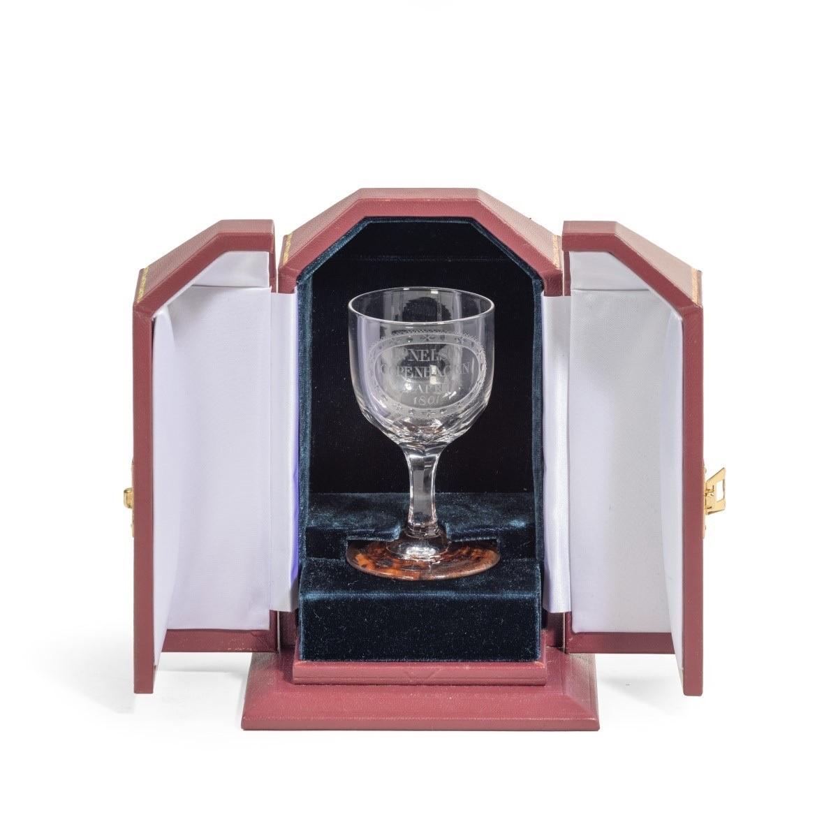 Admiral Viscount Nelson's wine glass commemorating the Battle of Copenhagen