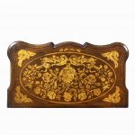 Period Dutch Mahogany Four-Drawer Bombe Marquetry Commode Top