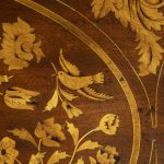 Period Dutch Four-Drawer Bombe Marquetry Commode