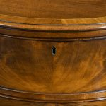 George III Figured Mahogany Serpentine Commode Attributed to Henry Hill