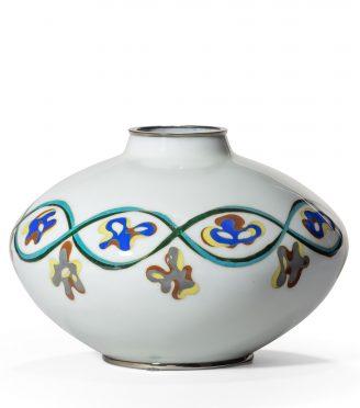 An unusual Showa period cloisonné vase