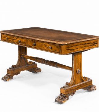 A late Regency rosewood free standing library table, by James Winter,