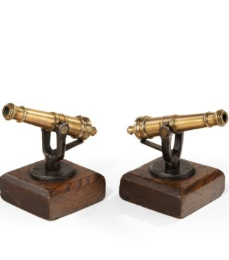 A pair of 19th century ½in. bore signal guns main