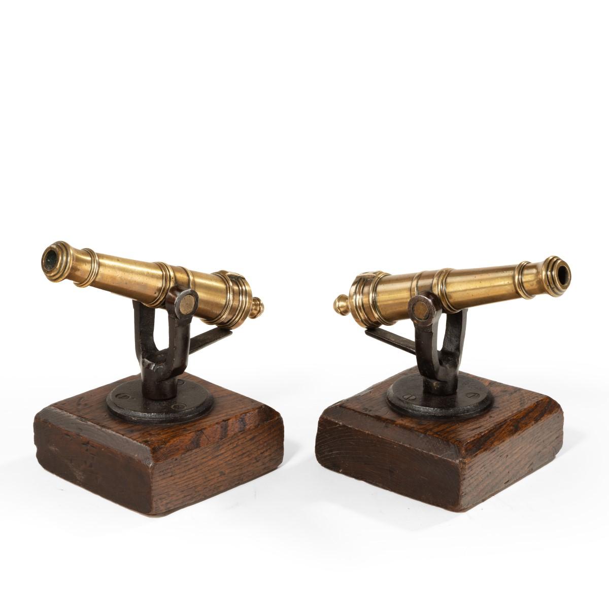 A pair of 19th century ½in. bore signal guns main
