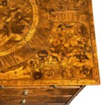 A William and Mary marquetry walnut veneered chest of drawers