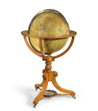 William IV 20 inch terrestrial globe by Cruchley