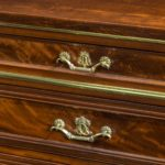 A mahogany document cabinet in the Louis XVI style by Mellier of London close up