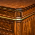 A mahogany document cabinet in the Louis XVI style by Mellier of London corner