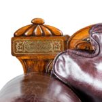 A George IV brass inlaid rosewood country house three-seater sofa attributed to Gillows detail