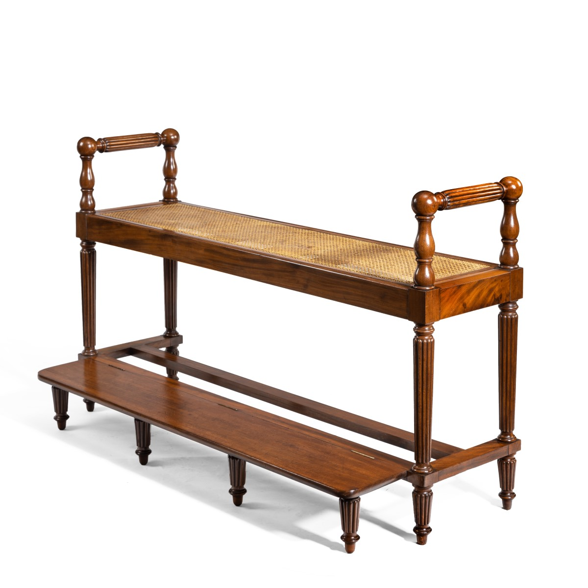 Louis Philippe mahogany hall bench main image