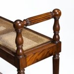 Louis Philippe mahogany hall bench front up