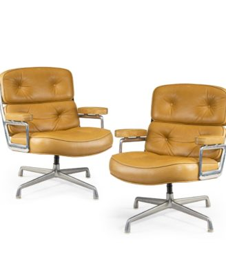 "A set of twelve swivel ""Time Life Chairs"" or lounge chairs, designed by Charles & Ray Eames for Herman Miller in 1960"