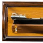 A shipyard model of the wooden steam ship 'S.S. F.W.Harris', 1877,