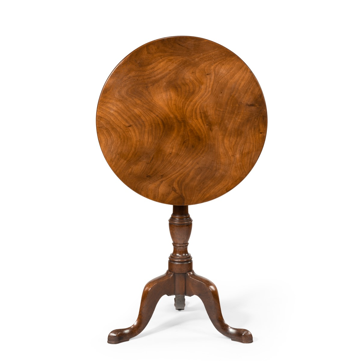A George III mahogany tilt-top occasional table,