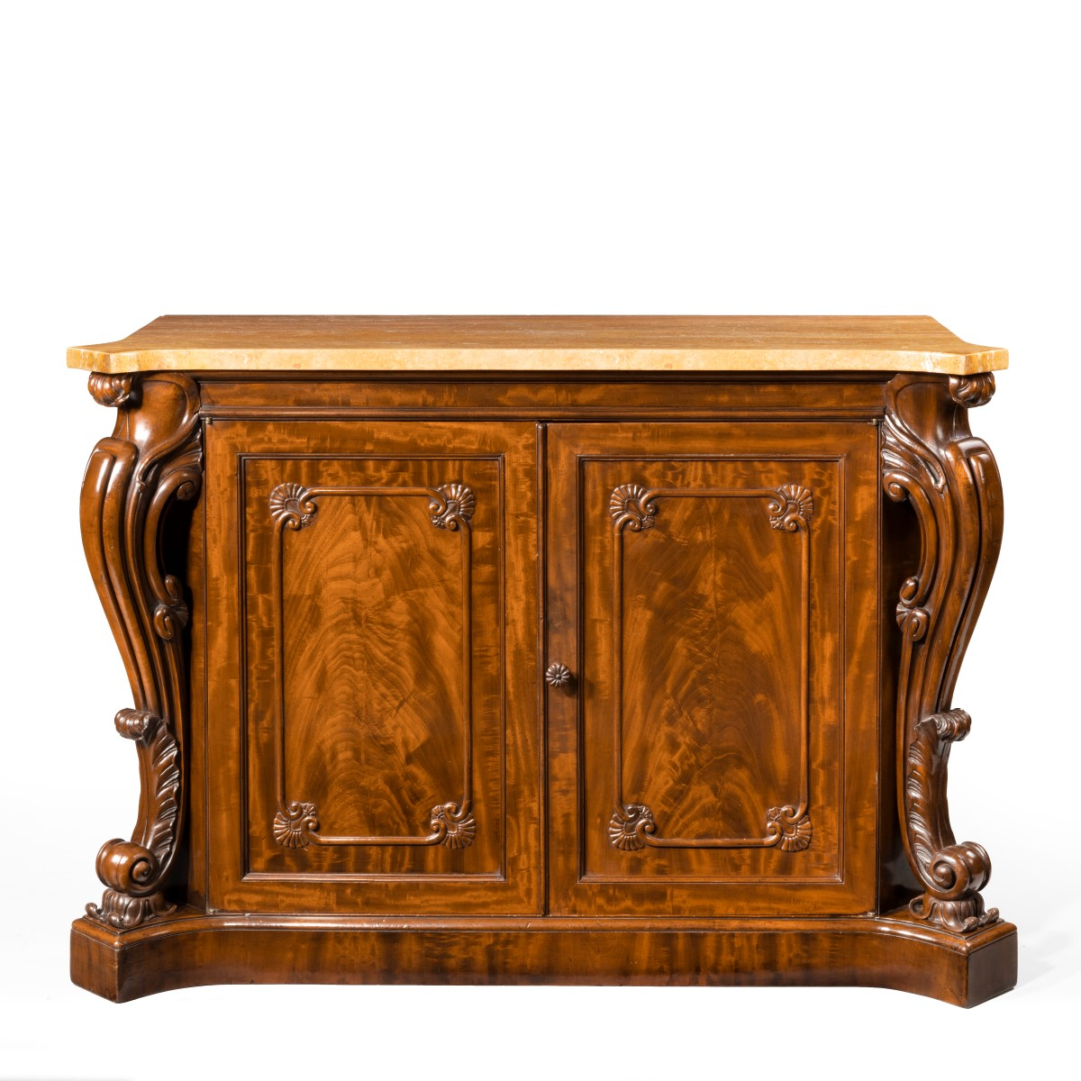 An early Victorian two-door mahogany side cabinet, attributed to Gillow
